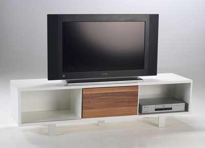 Lowboard nussbaum  TV-Lowboard Sideboard TV-Board weiß-nussbaum UVP 199