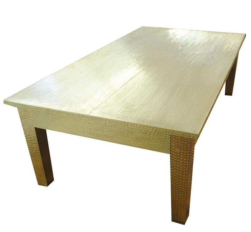 Couchtisch Tisch Wohnzimmertisch Beistelltisch Gold Metall 252006