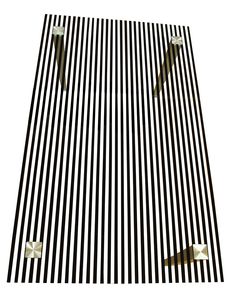 Couchtisch Beistelltisch Tisch Glas schwarz Stripe 252011 NEU & OVP