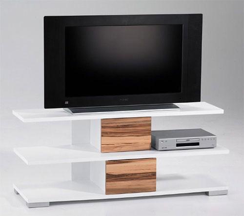 TV Board TV Lowboard TV Rack HIFI Weiss Wallnuss NEU & OVP 252017
