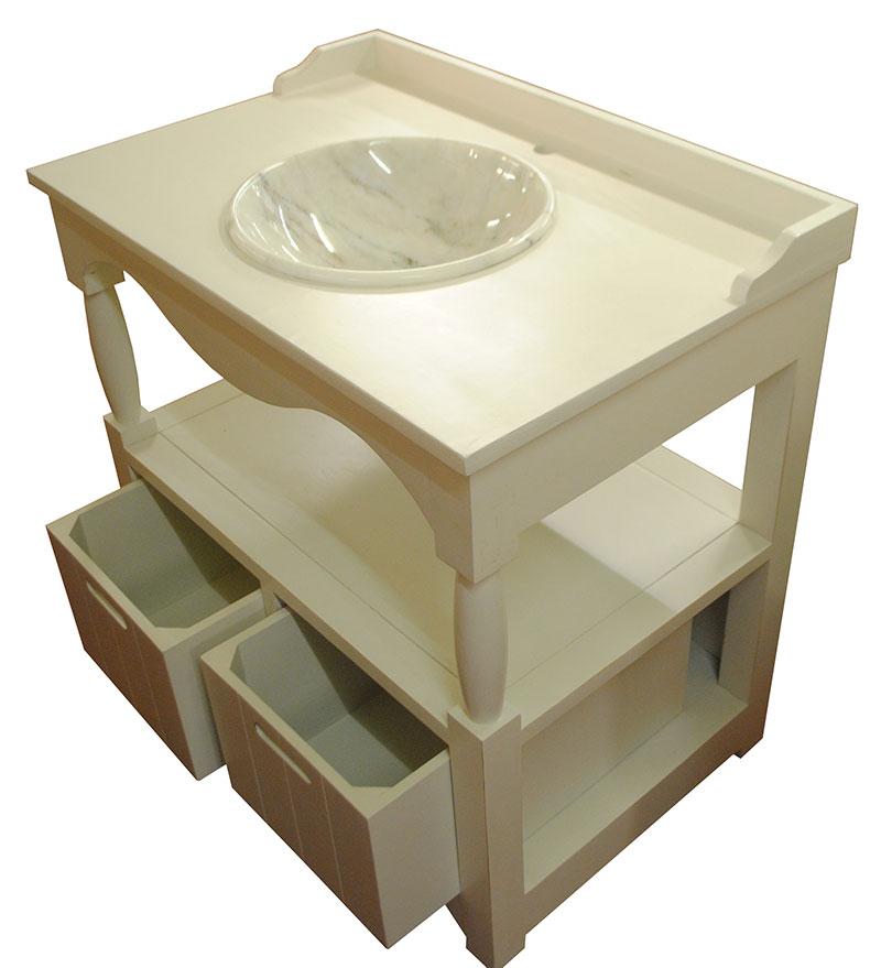 Waschtisch waschbecken waschschrank badm bel wei marmor neu for Marmor couchtisch neu