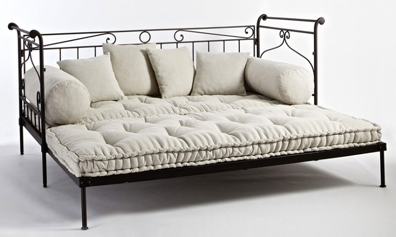 schlafsofa sofa schlafcouch couch bett metallgestell neu. Black Bedroom Furniture Sets. Home Design Ideas