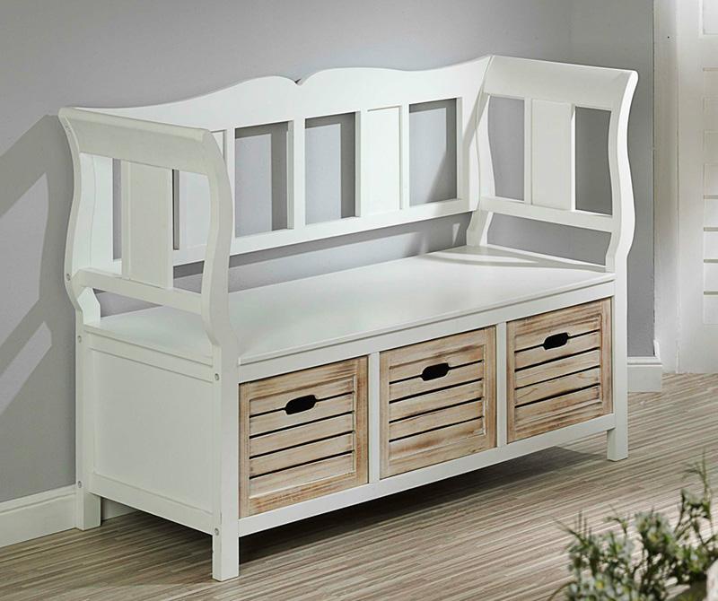 sitzbank weiss mit r ckenlehne bank mit lehne kiefer massiv holzbank pictures to pin on pinterest. Black Bedroom Furniture Sets. Home Design Ideas