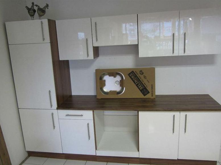Küchenblock weiß  Hochwertige Küche Küchenzeile Küchenblock weiß HOCHGLANZ 9tlg. Neu ...