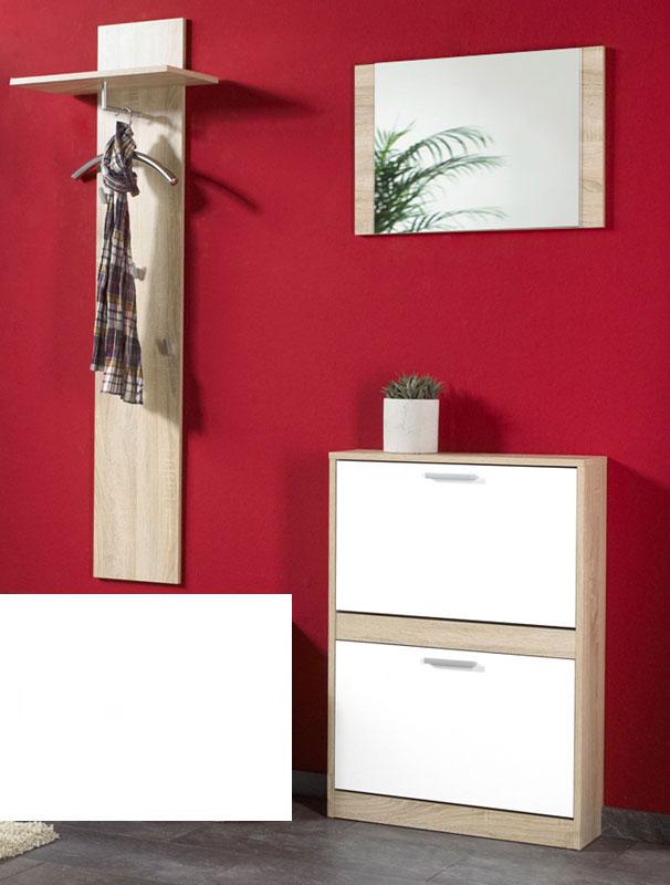 Garderoben Set, Dielen-Set 3-tlg Eiche Weiss Neu & OVP