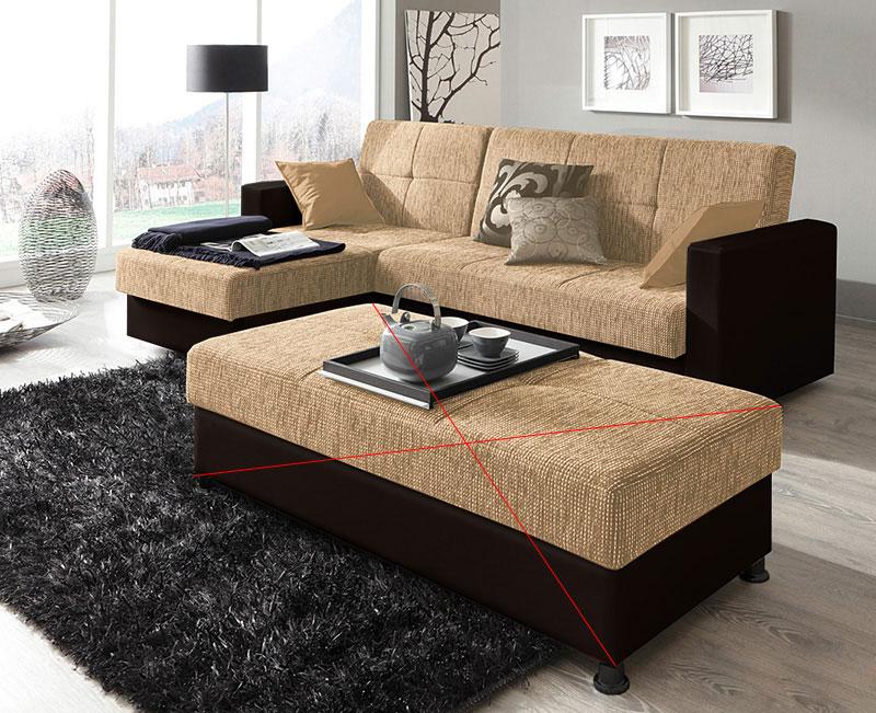 Schlaf-Couch Sofa Bettkasten Bonell Federkern NEU & OVP