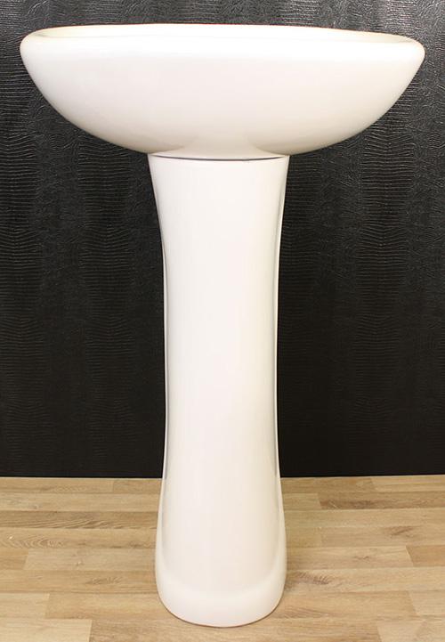 keramik waschbecken waschtisch mit fu wei neu ovp ebay. Black Bedroom Furniture Sets. Home Design Ideas
