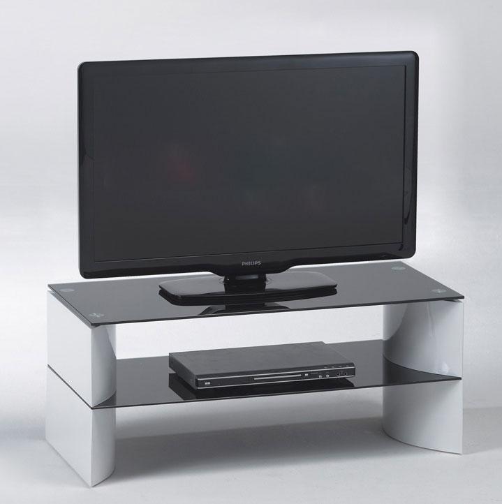TV Lowboard TV Element weiß Hochglanz Schwarzglas NEU & OVP 110344