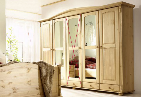 massivholz kleiderschrank kiefer landhaus schlafzimmer 4 trg neu ovp. Black Bedroom Furniture Sets. Home Design Ideas