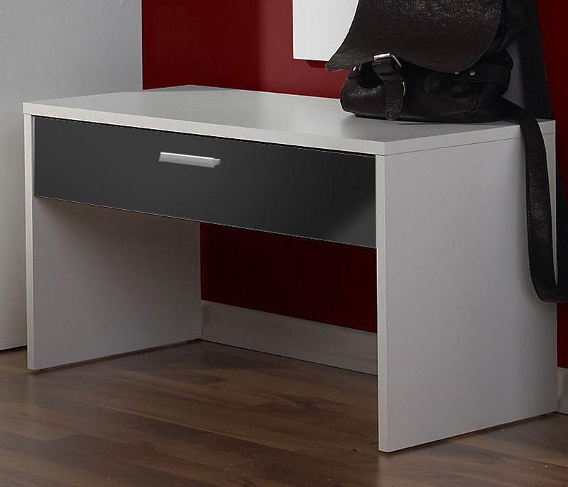 Garderobenbank Torino schwarz / weiß Bank NEU & OVP 2520343