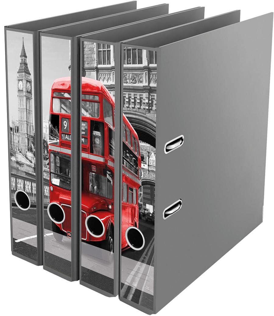 Ordner File Sticker London compilation rot schwarz weiss Bus NEU 2520652