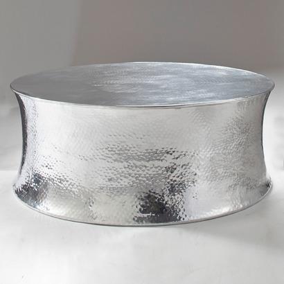 Beistelltisch tisch couchtisch aluminium neu 8104625 - Beistelltisch silber rund ...