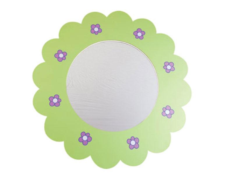 Spiegel Wandspiegel Blume Kinderspiegel grün pink Girlie NEU & OVP 2521134