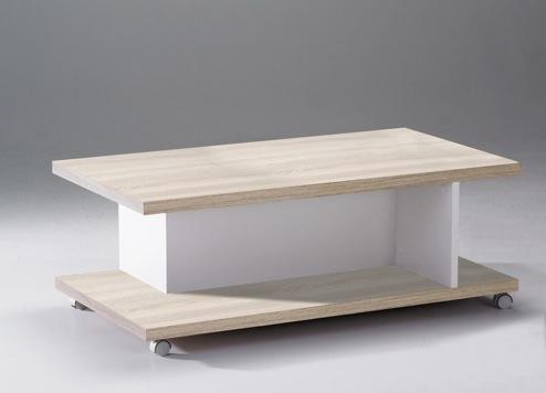 Couchtisch Beistelltisch Tisch Natur weiß Rollen 2521170 NEU & OVP