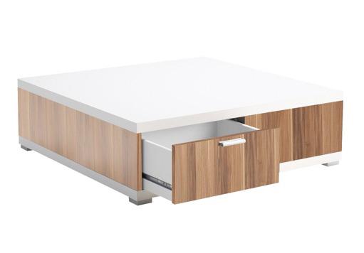 Couchtisch Tisch weiß Nussbaum 2521173 NEU & OVP
