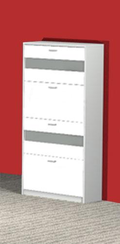 Wandschuhschrank Schuhschrank Garderobe Napoli weiß/weiß NEU & OVP 2521176