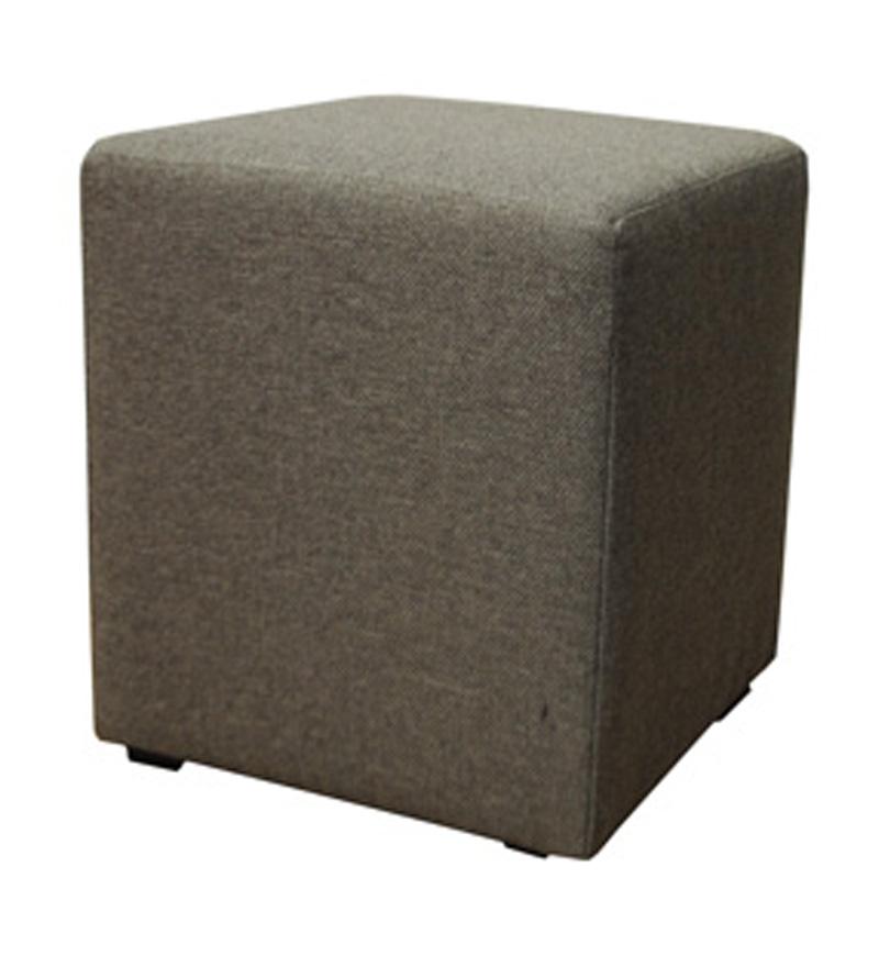hocker beistelltisch grau stoff w rfel neu ovp ebay. Black Bedroom Furniture Sets. Home Design Ideas