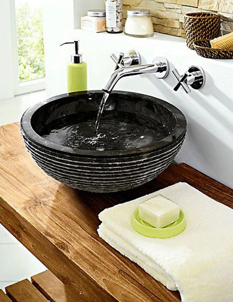 Waschbecken marmor anthrazit uvp 249 neu ovp ebay for Marmor couchtisch neu