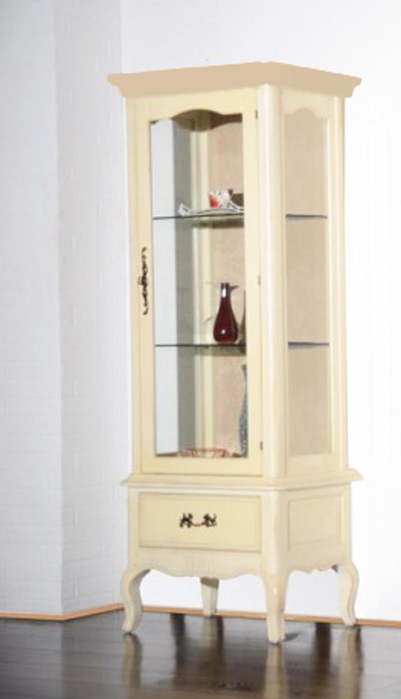 Vitrine Regal Glasschrank Konsole Schrank Barock Rokoko beige NEU 2521700