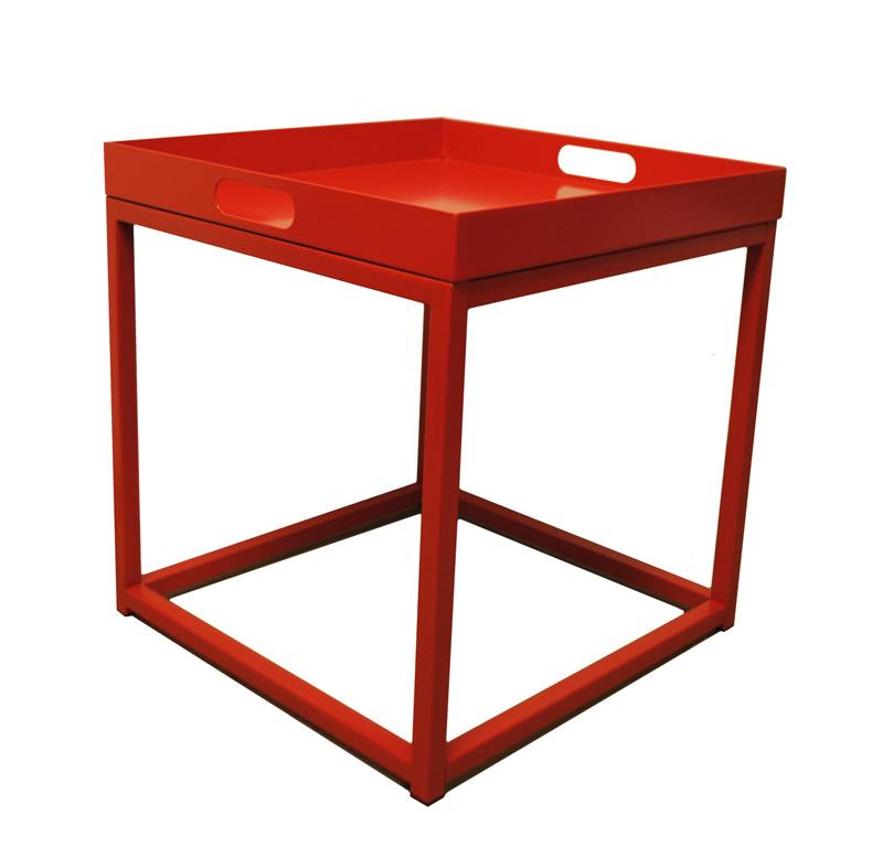 Beistelltisch Couchtisch Tabletttisch Tisch Tablett rot NEU 2521703