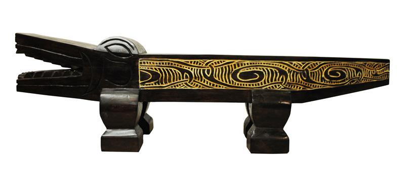 bank beistelltisch hocker krokodil holz uvp 199 neu ovp. Black Bedroom Furniture Sets. Home Design Ideas