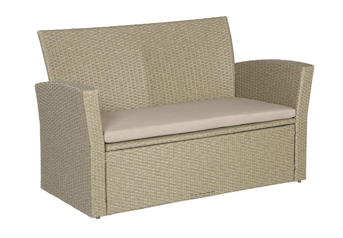 Gartenbank bank sofa gartenm bel polyrattan auflage neu for Couch auflage