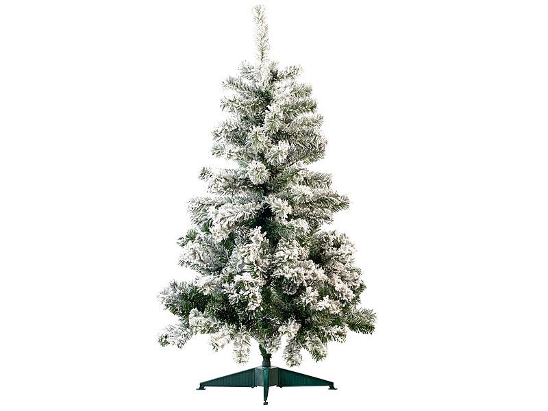 Weihnachtsbaum Kunsttanne Kunstschnee Schneedesign Baumständer 130cm NEU 110371