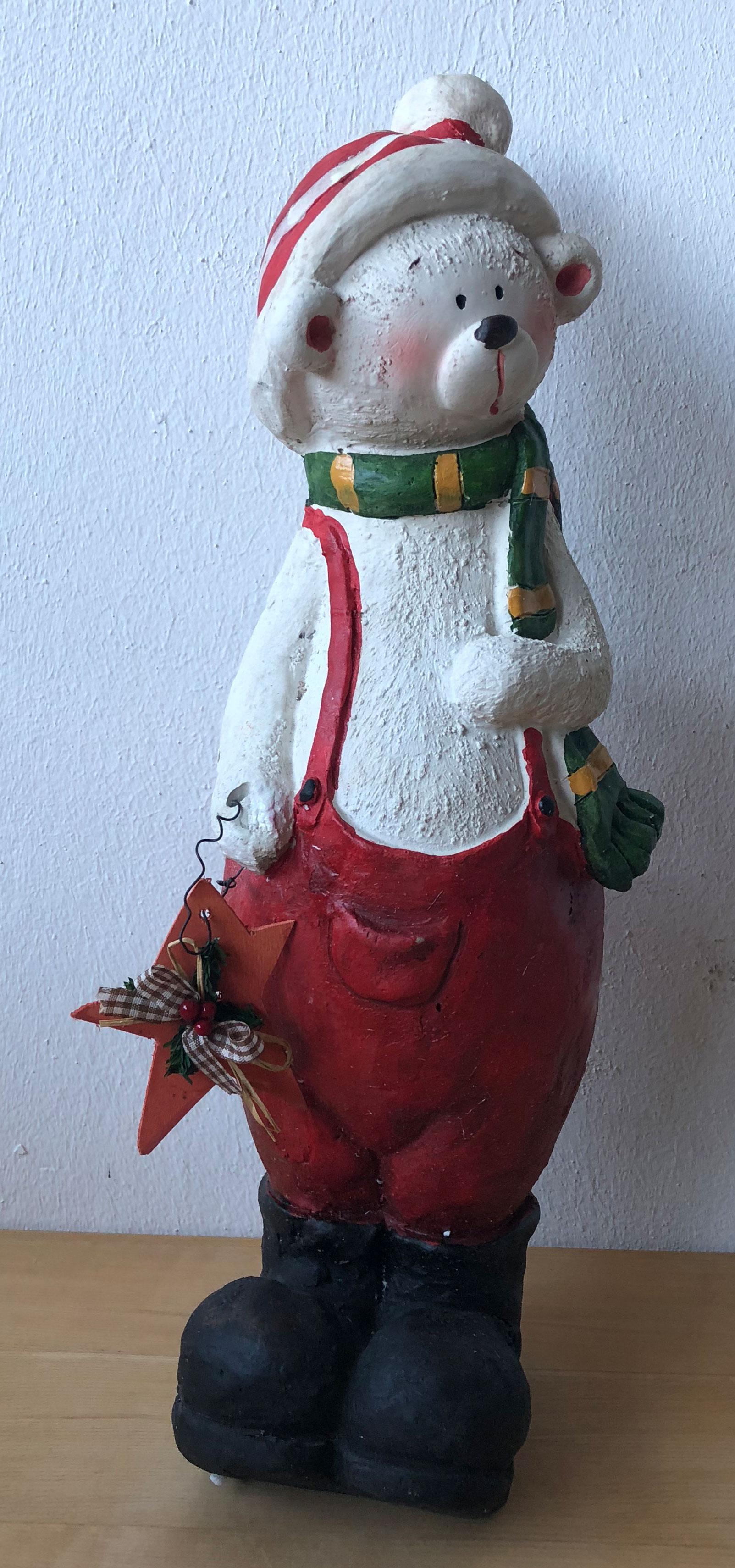 Eisbär Weihnachten Bär Weihnachtsmann Dekoration Weihnachtsdeko NEU & OVP 110378