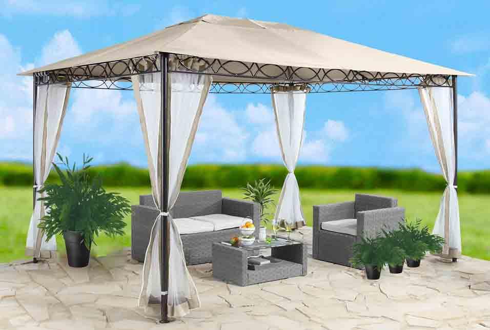 Ersatzdach Dach Pavillon 3x4 m sandfarben PVC-Beschichtung 7220083
