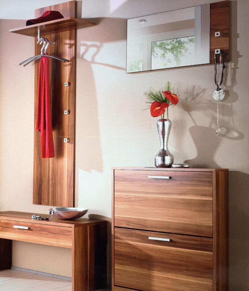 garderoben set dielen set torino 4teilig nussbaum uvp 269. Black Bedroom Furniture Sets. Home Design Ideas