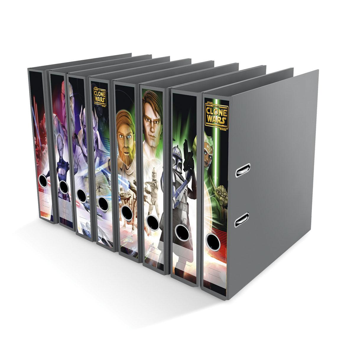 Ordner File Sticker Star Wars Clone Wars 8 Stück NEU 2520644