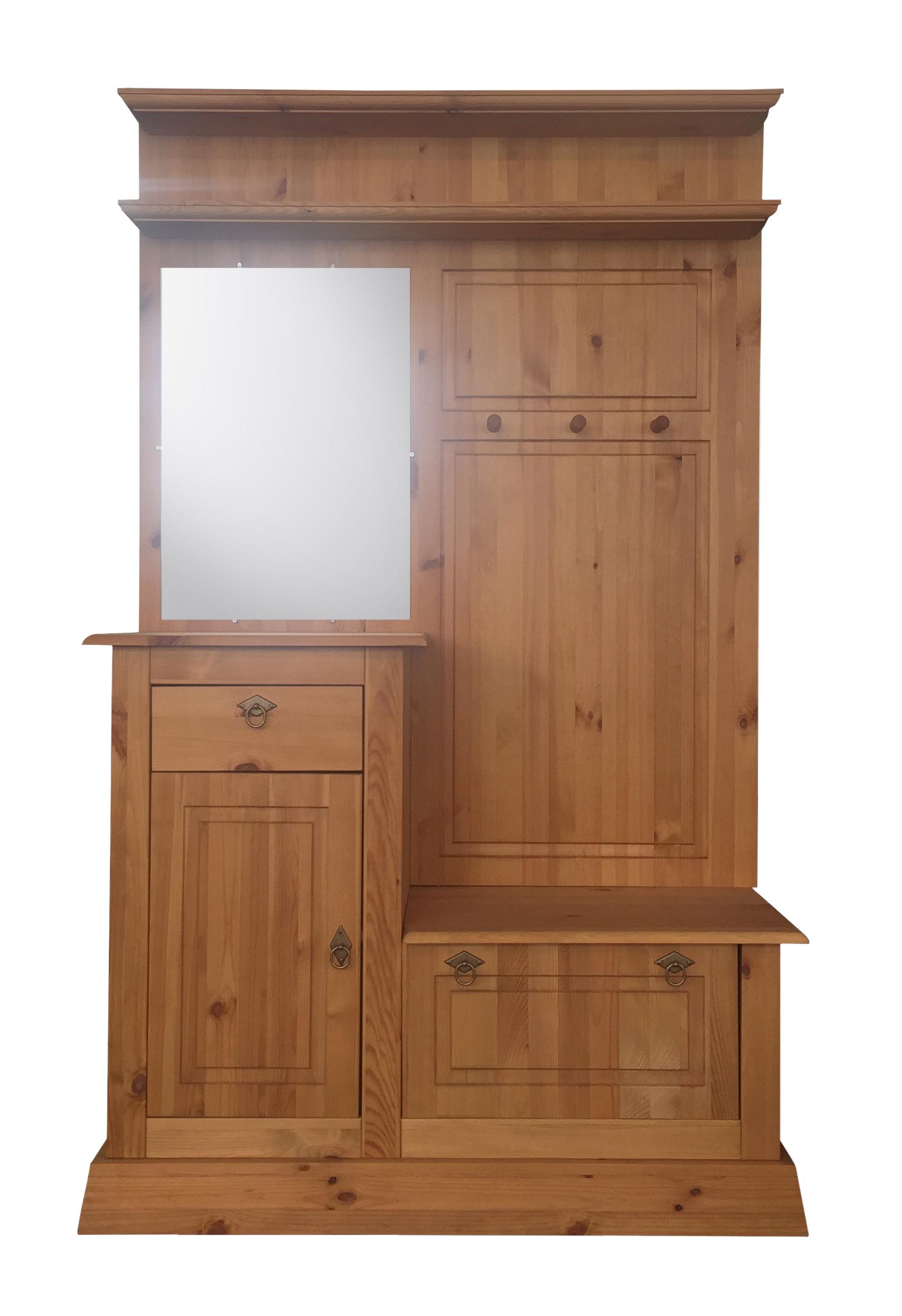 garderobe garderobenschrank spiegel harken schublade holz neu 2521702 ebay. Black Bedroom Furniture Sets. Home Design Ideas