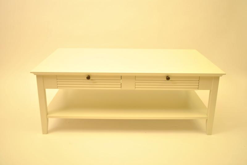 Couchtisch Beistelltisch Schubladen Weiß Creme Neu & OVP 2521728