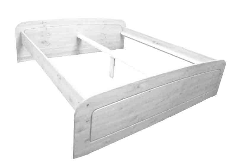 Bett Bettgestell Kiefer Massiv Weiß 1,60x2,00m NEU & OVP 2521749