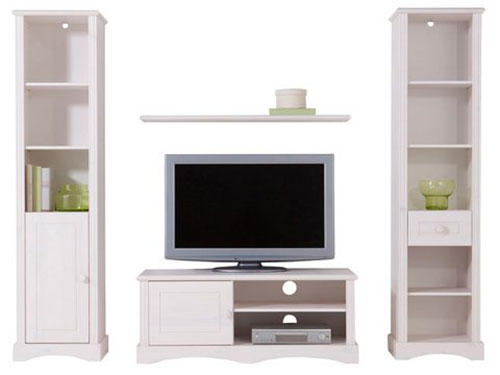 wohnwand schrank regal vitrine lowboard holz wei 2521751 neu ovp ebay. Black Bedroom Furniture Sets. Home Design Ideas