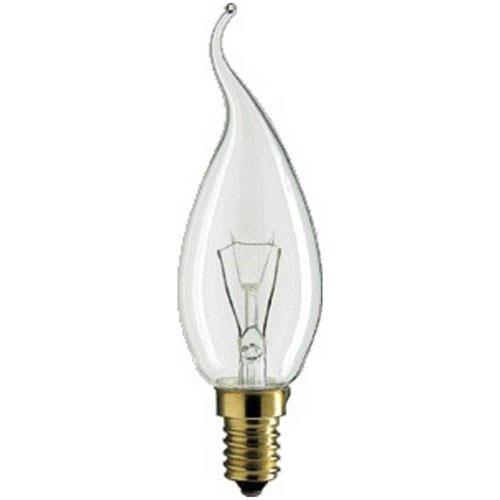 Philips Glühbirne 25 Watt Kerze Lampe Leuchtmittel klar  E14 Sockel NEU