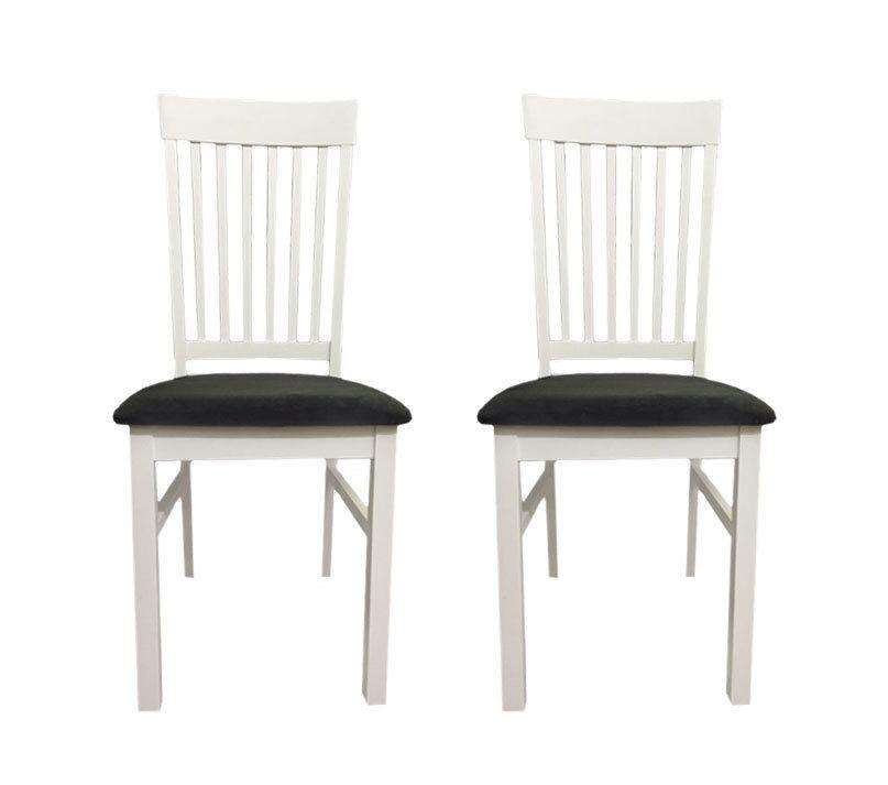 2 Stühle Esszimmerstühle Esszimmerstuhl Stuhlset weiß / grau NEU & OVP 2521831