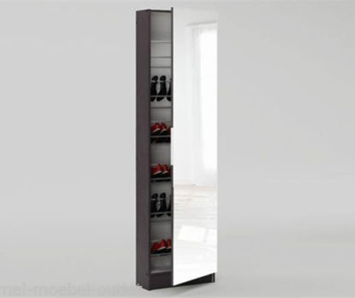 Schuhschrank Wandschuhschrank Glastür Fächer NEU 2521844
