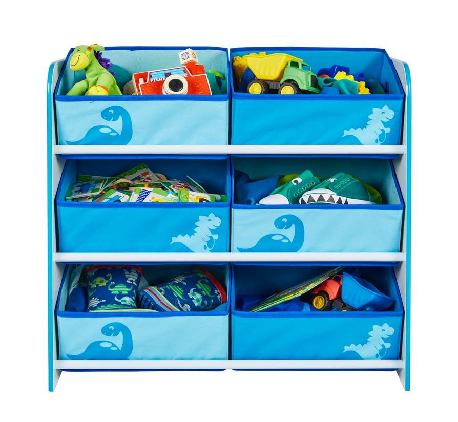Kinderregal Regal Dinosaurier blau Stoffkörbe NEU 2521877