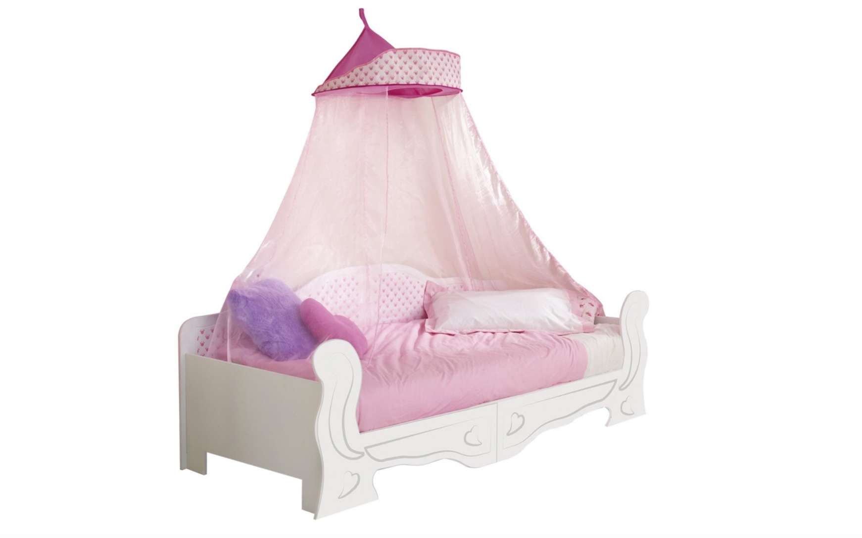 kinderbett bett himmelbett minnie maus rosa matratze 200x90 neu 2521883 ebay. Black Bedroom Furniture Sets. Home Design Ideas