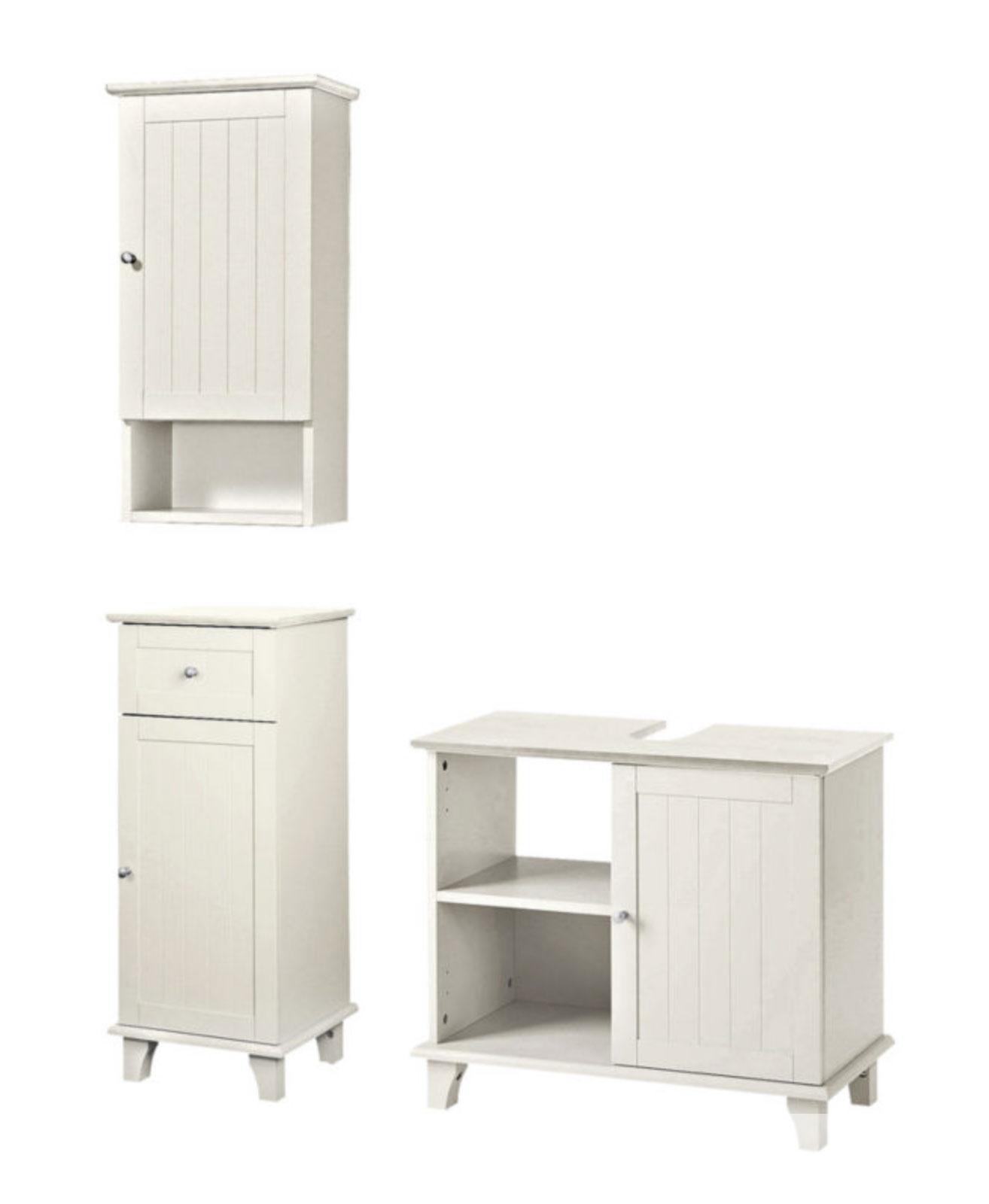 Badmöbel Set Waschbeckenunterschrank Hängeschrank Schrank Holzschrank 7100285