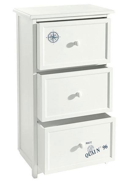 schubladenschrank kommode regal schrank wei blau neu 7100396 ebay. Black Bedroom Furniture Sets. Home Design Ideas
