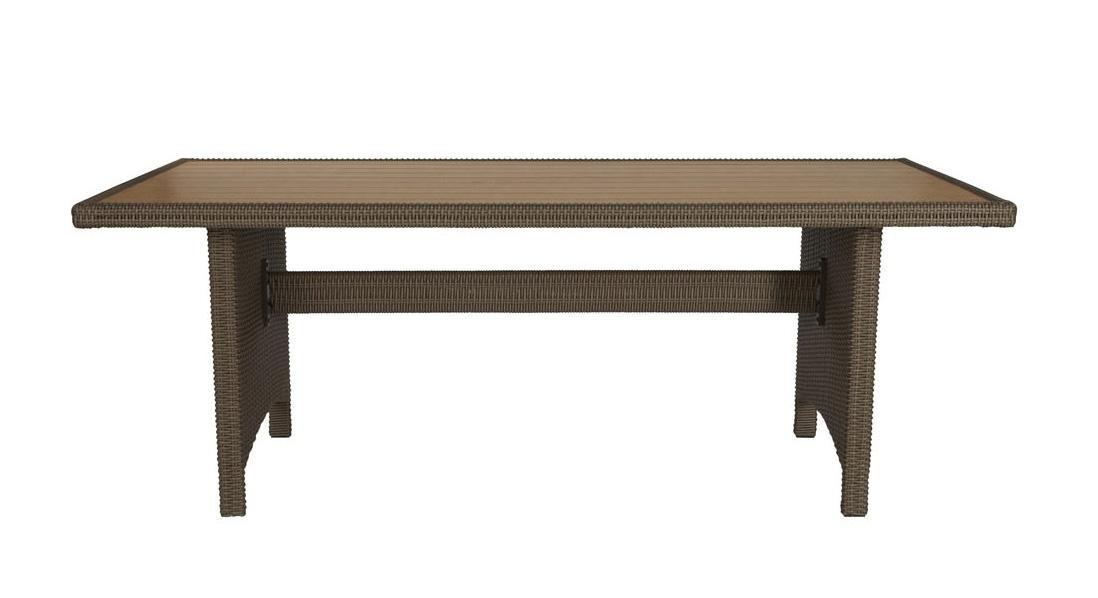 Gartentisch Tisch Garten Gartenmöbel Rattan Holzoptik 7150010