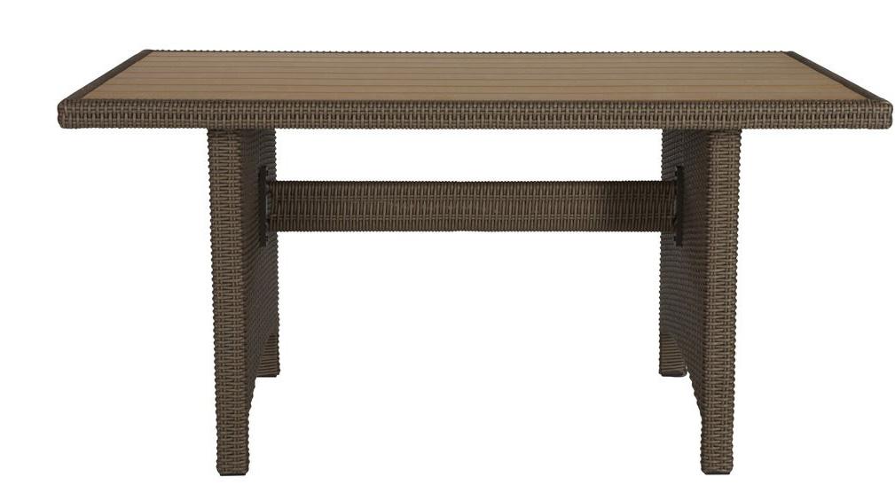 gartentisch tisch garten gartenm bel rattan holzoptik. Black Bedroom Furniture Sets. Home Design Ideas