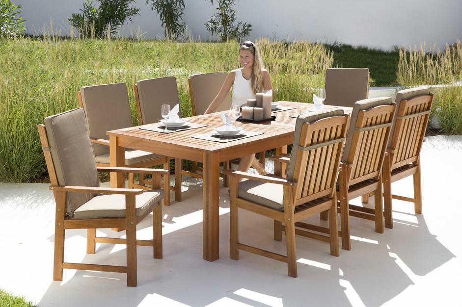 Gartengruppe Garten Gartenmöbel Tisch Stühle Auflage 17-tlg. 7150062