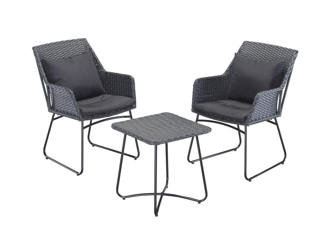 gartengruppe gartenm bel balkonset tisch 2 st hle 7150066 ebay. Black Bedroom Furniture Sets. Home Design Ideas