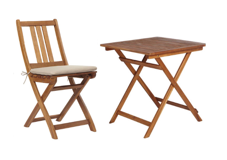Gartenmöbel Gartengruppe Tisch Stühle Akazienholz inkl Auflage 9-tlg 7150072
