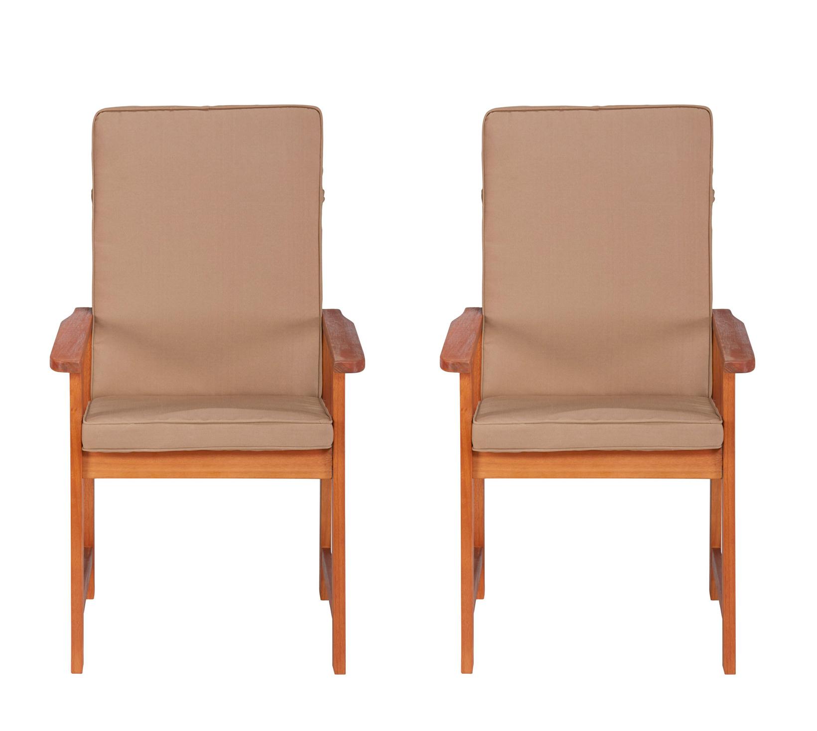 2 Gartenstühle Holzstühle Esstischstühle Eukalyptusholz 2 Stück 7150231