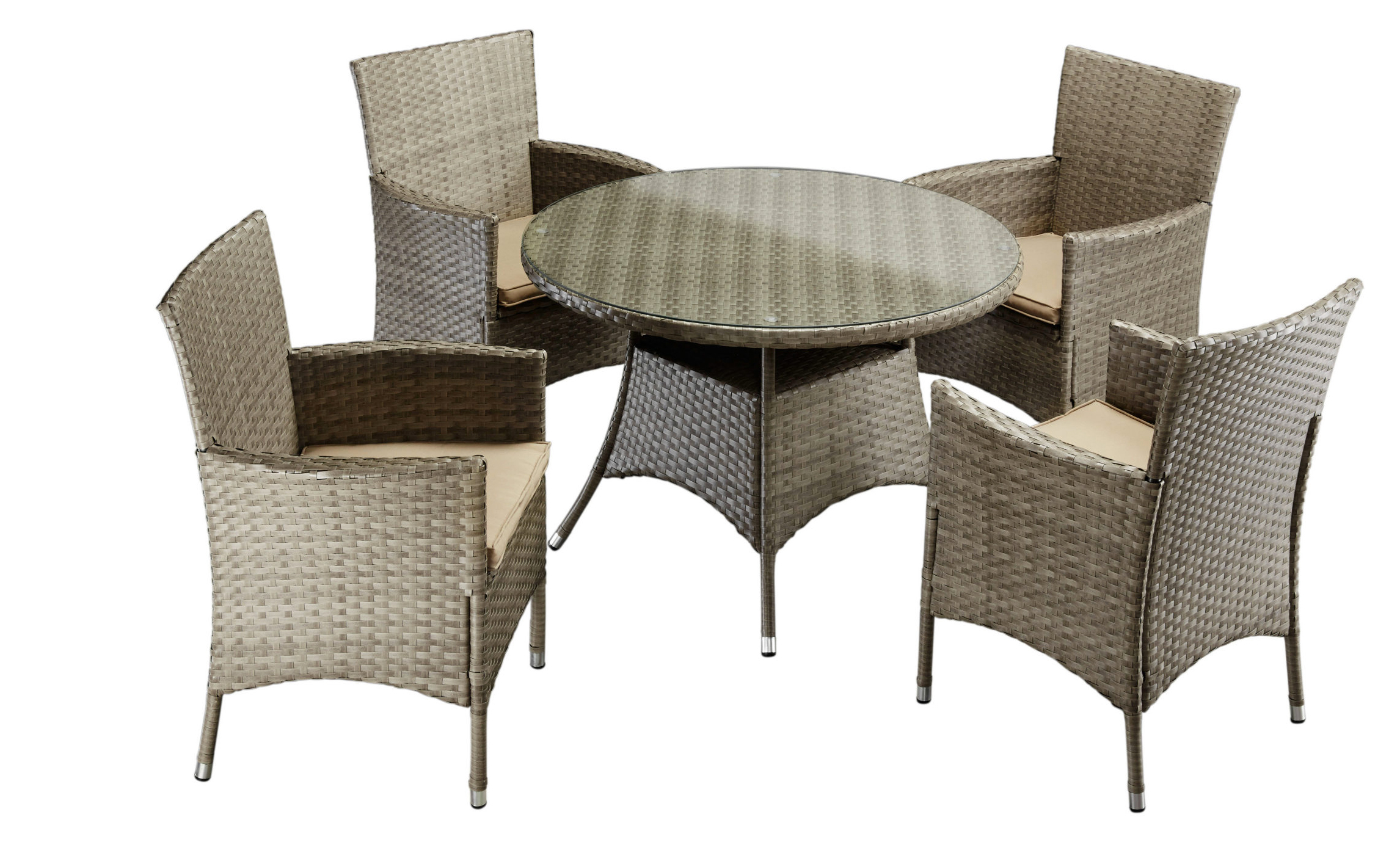 gartengruppe essgruppe garten tisch 100 st hle auflage polyrattan 9 tlg 7150320 ebay. Black Bedroom Furniture Sets. Home Design Ideas