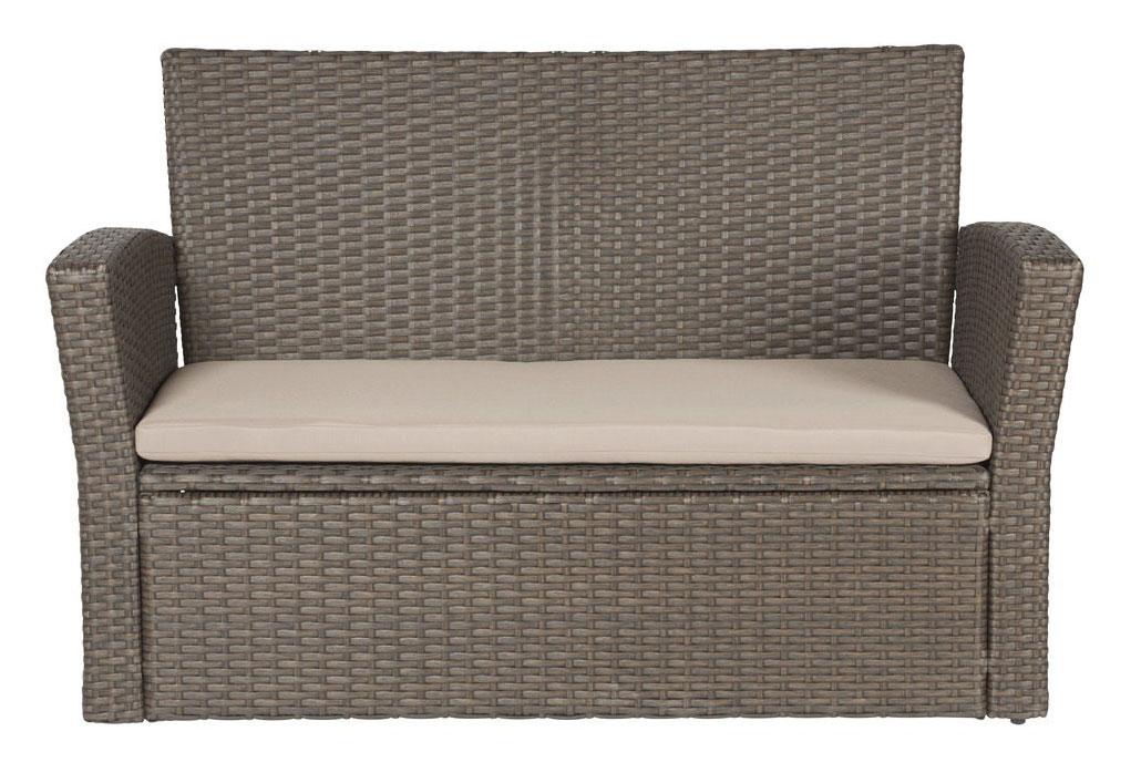 gartenbank bank sofa gartenm bel polyrattan auflage neu 7150411 ebay. Black Bedroom Furniture Sets. Home Design Ideas